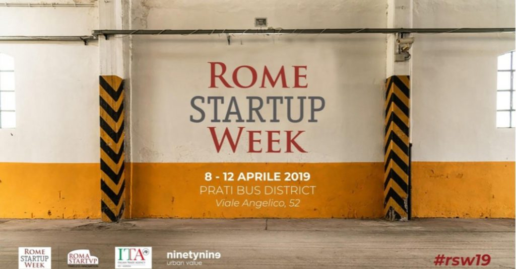 Rome Startup Week 2019, 8/12 Aprile Pick Center