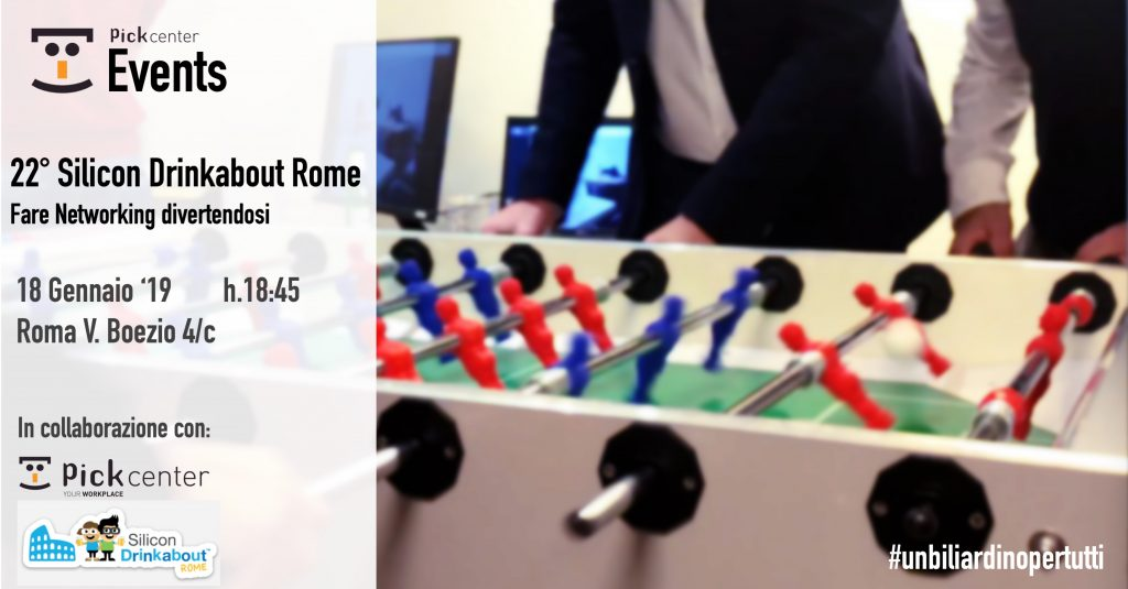 #22 Silicon Drinkabout Rome – Gennaio – BSide Pick Center