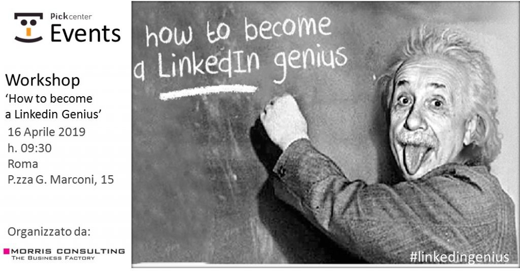Pick Center ospita l'evento 'How to become a Linkedin genius' Pick Center