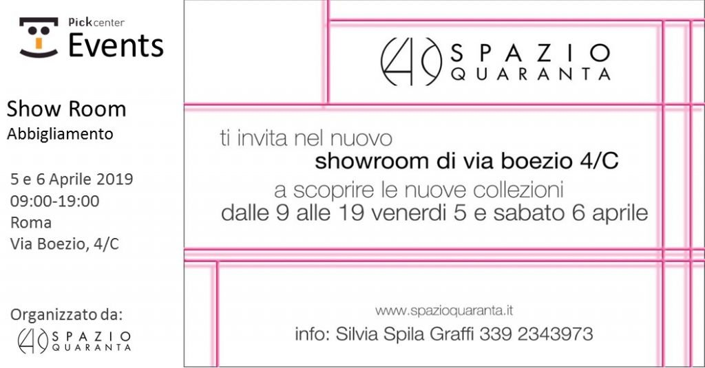Pick Center ospita l'evento di Spazio Quaranta Pick Center